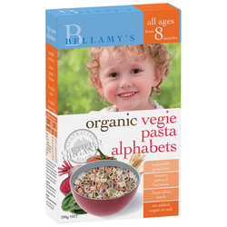 包邮包税澳洲直邮Bellamy's贝拉米有机蔬菜通心粉字母形状 适合八个月以上 200g*4