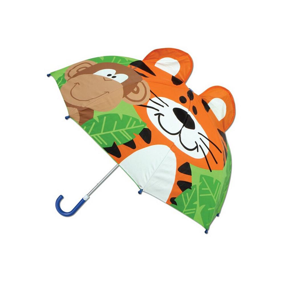 美国直邮stephen joseph可爱3d立体卡通造型儿童雨伞老虎猴子图案