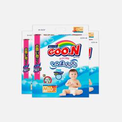 【包邮 3包装 110元/包】Goo.N大王 M80片(6-11kg) 纸尿裤 1.375元/片