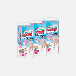 【包邮 3包装 110元/包】Goo.N大王 xxL36片(18-25kg) 女宝宝拉拉裤 3.05元/片