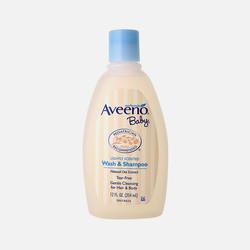 美国直邮Aveeno Baby天然燕麦婴儿洗发沐浴露二合一无泪配方 354ml