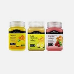 【新溪岛Streamland蜂蜜组合】天然柠檬蜂蜜 500g+蔓越莓蜂蜜 500g+黄金奇异果蜂蜜 500g