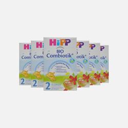 【包邮包税4盒装】德国直邮喜宝HIPP益生菌奶粉2段600g