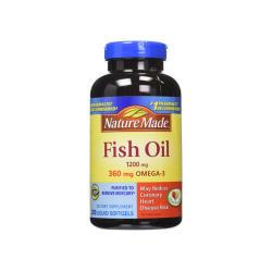 Nature Made/Fish Oil 深海鱼油软胶囊 200粒 2瓶装 (美国直邮/包邮包税)