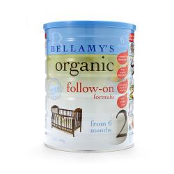 澳洲直邮【包邮包税】Bellamy's贝拉米2段 有机婴儿牛奶粉(6个月以上)900g*3罐