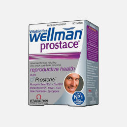 英国直邮【包邮包税】Vitabiotics Wellman Prostace 男士前列腺保养片 60粒