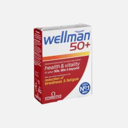 英国直邮【包邮包税】Vitabiotics Wellman 50+中年男士健康活力营养片30粒