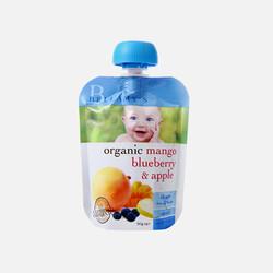 4袋包邮包税澳洲直邮Bellamy's贝拉米有机芒果+蓝莓+苹果泥 适合四个月以上 90g *4