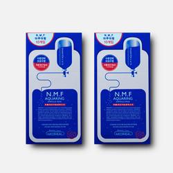 【包邮包税】2盒装 美迪惠尔MEDIHEAL(可莱丝)n.m.f 水库面膜10片/盒*2盒 (新旧版随机发)