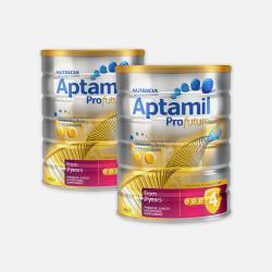 底价优质物流包邮包税澳洲直邮Aptamil爱他美白金版婴儿牛奶粉4段 900g*2
