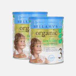 包邮包税澳大利亚直邮Bellamy's贝拉米3段有机婴儿牛奶粉(12个月以上)900g*2