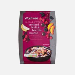 英国直邮【包邮包税】Waitrose 水果和浆果类什锦牛奶早餐麦片  1kg*2袋