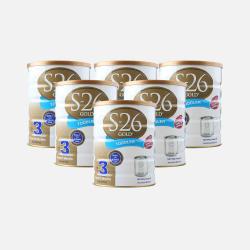 澳洲直邮【包邮包税】六罐 Wyeth惠氏S-26 金装婴幼儿奶粉3段(1-2岁) 900g