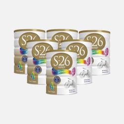 澳洲直邮【包邮包税】六罐 Wyeth惠氏S-26 金装婴幼儿奶粉4段(2岁以上) 900g