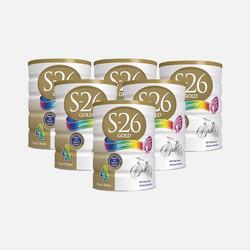 澳洲直邮【包邮包税】Wyeth惠氏S-26 金装婴幼儿奶粉4段(2岁以上) 900g*6罐