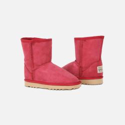 包邮包税澳洲直邮Urban UGG儿童雪地靴 澳洲原料纯手工制造 玫红色 1双