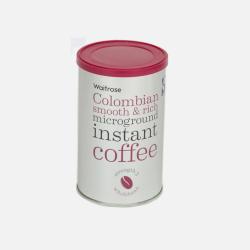 英国直邮【包邮包税】Waitrose 哥伦比亚即溶咖啡 100g