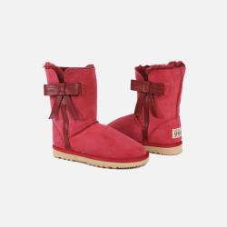 包邮包税澳洲直邮Urban UGG蝴蝶结中长款雪地靴 女款 澳洲原料纯手工制造 红色 1双