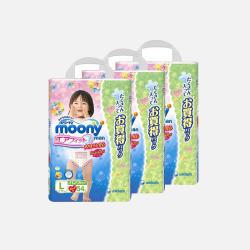 【包邮包税3包装】日本Moony/尤妮佳 拉拉裤 L54女*3包装