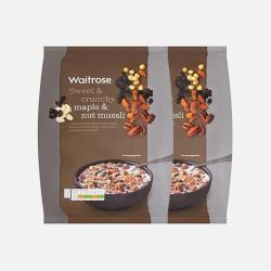 英国直邮【包邮包税】Waitrose 枫糖和坚果类什锦牛奶早餐麦片  1kg*2袋