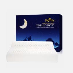【包邮包税】Ronly泰国天然乳胶枕头记忆按摩颈椎护颈枕芯2层枕套 高低平滑   国内现货仓发货