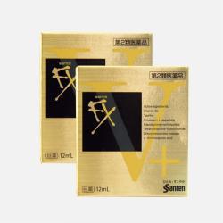 日本直邮【包邮包税】SANTEN-FX 参天预防红血丝金色眼药水 12ml*2瓶