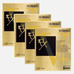 日本直邮【包邮包税】SANTEN-FX 参天预防红血丝金色眼药水 12ml*4瓶
