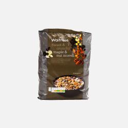 英国直邮【包邮包税】Waitrose 枫糖和坚果类什锦牛奶早餐麦片  1kg