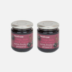 英国直邮【包邮包税】Waitrose 黑樱桃果酱 340g*2瓶