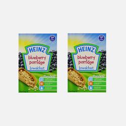 英国直邮【包邮包税】HEINZ亨氏 婴幼儿营养米粉 蓝莓味 120g(7个月以上)2盒装