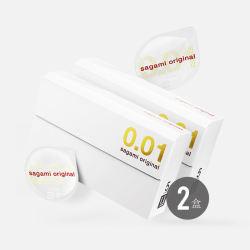 【包邮包税2盒】日本sagami/相模 001超薄安全套 5只装*2盒