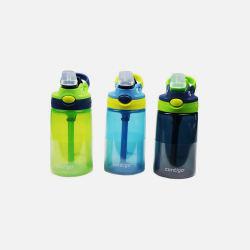 Contigo/康迪克 儿童防漏摔学生水杯吸管杯儿童水杯(414ml*3)宝宝水壶 蓝色 (美国直邮/包邮包税)