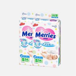 【包邮包税 2包装】日本Merries花王 S54片(4-8kg)新生儿纸尿裤