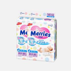 【包邮包税 2包装】日本Merries花王 NB60片(0-5kg)新生儿纸尿裤