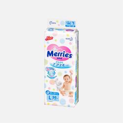 【包邮包税】日本Merries花王 L36片(9-14kg)纸尿裤