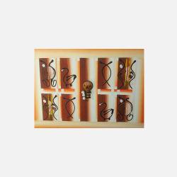 尼日利亚直邮【包邮包税】 手工装饰画 艺术品 律之韵 油布画  无框 NGP0616101