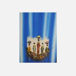 尼日利亚直邮【包邮包税】 手工装饰画 艺术品  智者 油布画  无框 NGP0616116