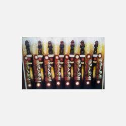 尼日利亚直邮【包邮包税】 手工装饰画 艺术品 猴之舞 油布画  无框 NGP0616102
