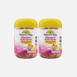 澳洲直邮包邮包税Nature's Way 成人软糖系列 女士复合维生素软糖100粒 2瓶