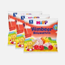 【包邮包税 3包装】德国Hipp 喜宝 婴儿无添加有机磨牙米饼 30g 树莓味