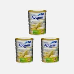 Aptamil爱他美白金版婴儿牛奶粉2段 900g*3罐 澳洲直邮【包邮包税】