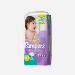 【包邮包税】日本帮宝适(Pampers) 婴儿纸尿裤 紫帮 L42 尿不湿