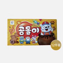 聪明爸爸【包邮包税12件装】韩国九日牌熊宝贝饼干 1盒=55g
