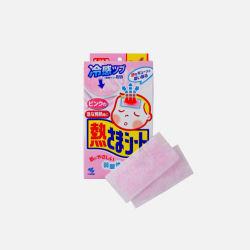 日本直邮【包税7日极速达】KOBAYASHI 小林制药||退热贴儿童用敏感肌用||粉色 12片+4片