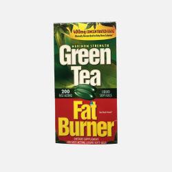 Green Tea Fat Burner 绿茶瘦身软胶囊 200粒  美国直邮 包邮包税