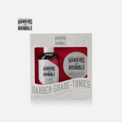 英国直邮【包邮包税】Hawkins&Brimble 榄香人参男士洗发护发两件套礼盒:洗发水 250ml/瓶 + 水基润发油 100ml/罐
