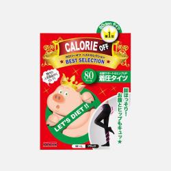 【包邮包税】Calorie off小猪袜子 80D连裤袜 黑色厚款 新版香港直邮