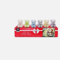 莓果礼盒Ini 小熊手工祛角质洁肤皂(蓝莓+蔓越莓+黑莓+奇异果莓+草莓+混合莓子)手工香皂 26g*6